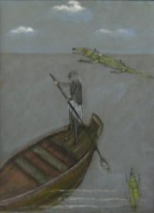 Matti Alapoti: Faaraon soutaja 2005 90 X 70 Öljy