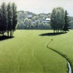 Esa Riippa: Ohikiitävä 2004  Viivasyövytys / akvatinta  18 x 22 cm