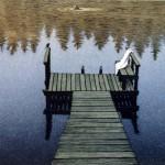 Esa Riippa: Paratiisi 2004  Viivasyövytys /  akvatinta  15 x 22 cm