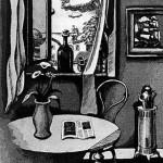 Merimiehen huone, 1982, etsaus ja akvatinta, 235x167 mm, kuva Pentti Paschinsky