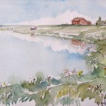 Kesän kirkkaus, akvarelli
