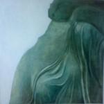 Maisa Sumari:  Yksityiskohta maalauksesta Nike joka epäröi  2005  73 X 73  Öljy