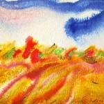 Mielenmaisema Soul scape  (27cm x 36cm)  Akvarelli