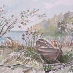 Risurannan vene, akvarelli