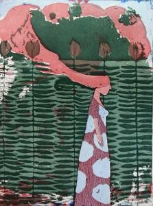 On my way to wonderland - 2013 70 ed etsaus, akvatinta, pehmeäpohja 18 x 24 cm