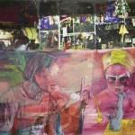 Ei nyt, 100 x 120 cm, öljy, pigmentinsiirto, 2015